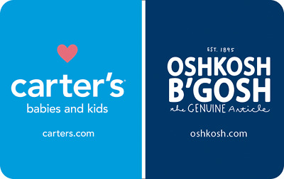 Carters Oshkosh Gift Card - $25 $50 $100 - Email delivery