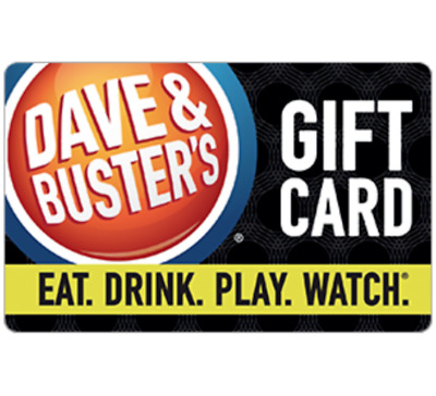 Dave & Buster's© Gift Card - $25 $50 or $100 - Email delivery