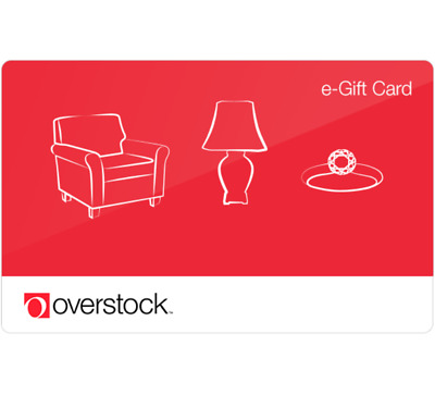 Overstock.com Gift Card - $25 $50 or $100 - Email delivery
