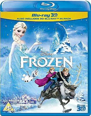 Frozen [Blu-Ray + 3D] New and Sealed --- Disney 2014 RARE