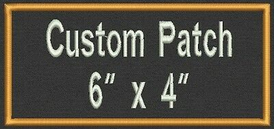 """Set of 2 Rectangle Name Tag, Biker Patch, badge 6"""" x 4"""""""