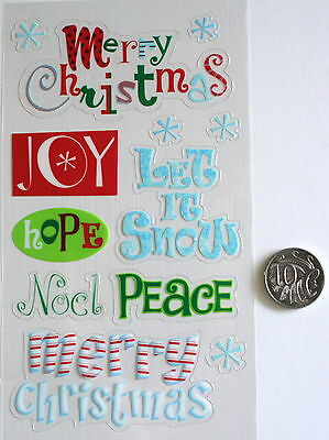 NO 114 Scrapbooking - Christmas ( Xmas ) Saying Stickers - Scrapbook