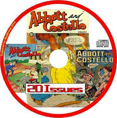 Abbott & Costello Comics on CD  20 issues includes viewing software