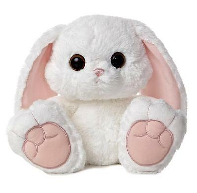 """10"""" Aurora Plush Whte Bunny Rabbit Taddle Toes Easter Stuffed Animal Toy NEW"""
