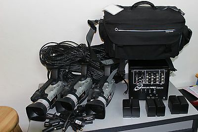 Tricaster Pro + 3 Canon GL2 cameras + Cables and Cords (Complete live streaming)