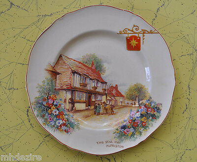rare  Royal Venton Ware - Olde English Inns - 'The Star Inn, Alfriston'  Plate