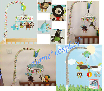 Baby Newborn Alphabet Zoo Cot/Crib Decoration Musical Mobile Toy Boxed Gifts New