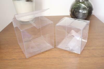 50x Clear PVC Wedding Bomboniere/Favour boxes - Bridal Party Baby Shower Gift