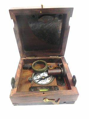 NAUTICAL MARITIME ~ BRASS MARINE MASTER BOX ~ T.COOKE & SONS LONDON 1858~ 6 in 1