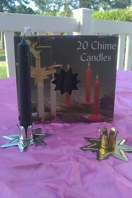 Black Chime Candles 4 inch 20 Pack