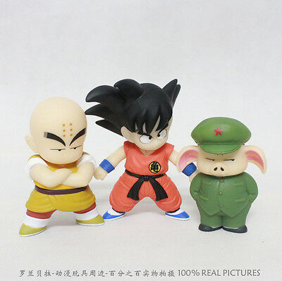 Set de 3 figuras Dragon Ball Z, anime, manga, japon,