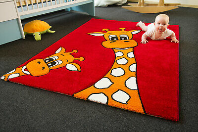 Kids Rug Little Carpet Childrens Rugs Collection Giraffe Lia Colourful Play Mat