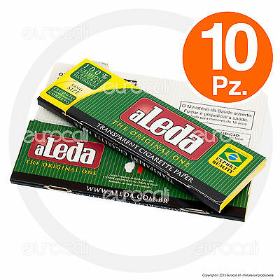 Cartine ALEDA LUNGHE 10 pz King Size Slim Trasparenti Cellulosa