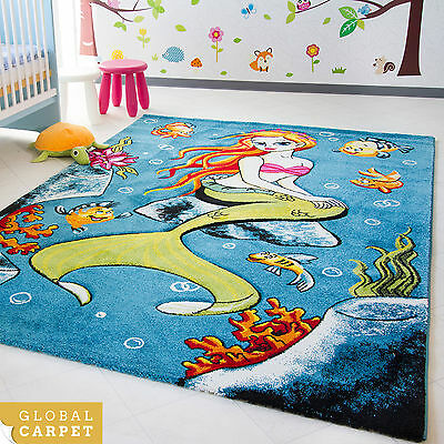Kids Rug Little Carpet Childrens Rugs Collection Mermaid Colourful Play Mat
