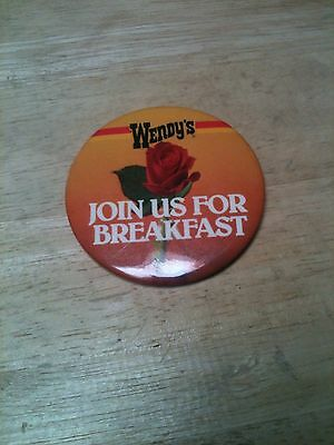 Wendy's Hamburger Restaurant Employee Collectable Pin Button Over 30 yrs. +