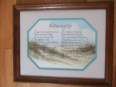 Home Interior Footprints of God by Ken Brown 84 (Reduced
