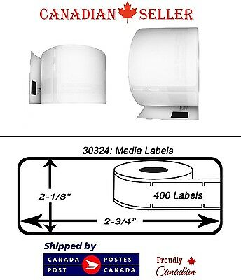 "8 Rolls of Dymo 30324 Compatible 2-1/8"" x 2-3/4"" Thermal Media Badge Labels"