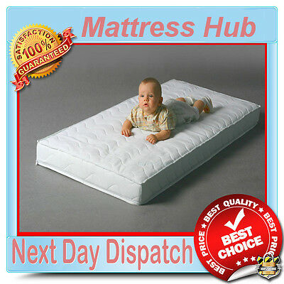 Baby Cot / Cot Bed Mattress Hub Foam Coconut Buckwheat Sprung Best Price
