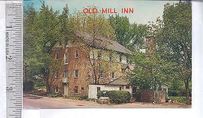 1960s used post card OLD MILL INN,  HATBORO, PA