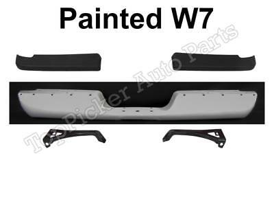 Painted White Rear Bumper Bar Out Inner Brackets For 1994-2001 Ram 1500 25 3500