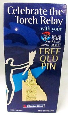 Torch Relay State Qld Courier Sydney Olympic Games 2000 Pin Badge Collect #389