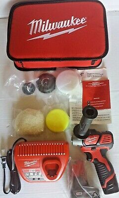 "Milwaukee M12 3"" Variable Speed Polisher/ Sander/ Accessory Kit XC/CP #2438-22X"
