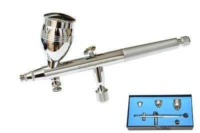 Precision Gravity Feed Double Action Airbrush Kit Air Brush  Ab-186 - Bd-186