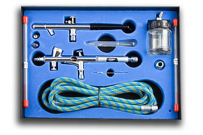 Dual Action Airbrush Kit - Ab-280K - Contains Two Airbrushes & Hose