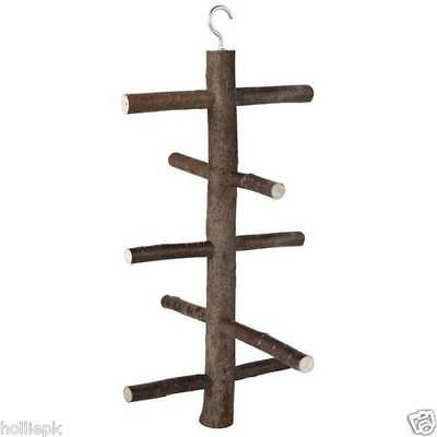 Natural Wood Hook On Bird Ladder Climbing Frame - 2 Sizes