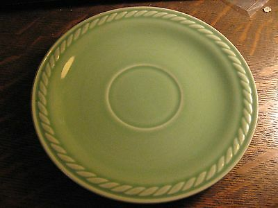 Universal China Pottery Rodeo Jade Green Pattern Vintage Rope Design Old Saucer