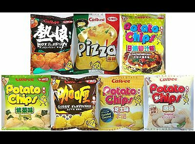 Calbee Potato Chips Snack Food Various Flavor for Party,Gifts,Gathering