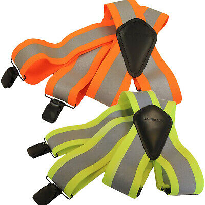 "Carhartt High Visibility Suspenders 2"" Adjustable Clip-on Work Suspender 45004"