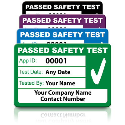 Personalised Medium 4th Edition Passed PAT Test Labels - Ultra Strong Adhesive