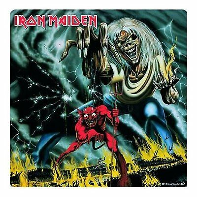 Iron Maiden Number Of The Beast Single Drinks Coaster Gift Band Album Fan