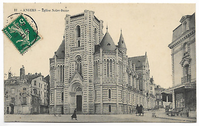 """CPA """" ANGERS - Eglise Notre-Dame"""