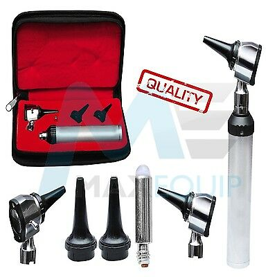 ENT Professional Medical Diagnostic OTOSCOPE KIT set Specula Case  XTRA LED BULB