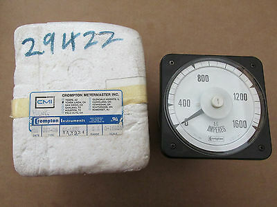 NEW NOS Crompton AA-LSTE A/C Amperes Meter 0-1600A Type 077-08