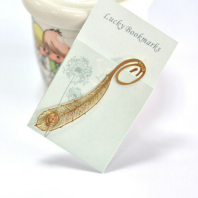 Reading Feather Metal Clip Bookmark Gift Magazine Book Mark Novelty Elegant