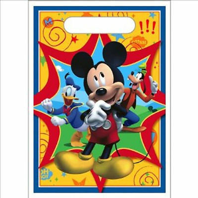8 Mickey Mouse Clubhouse Birthday Favor Loot Candy-Treat Bags Sacks Party Supply