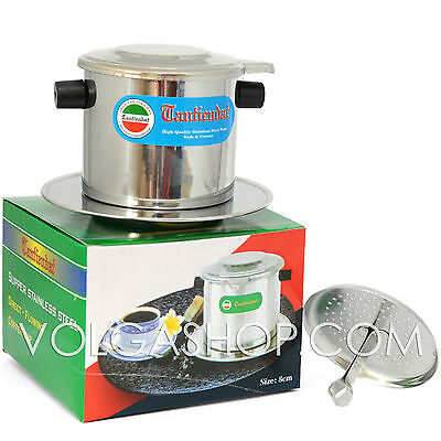 Vietnamese Coffee Filter - Stainless Steel -Phin Press Maker Size: 6-7- 8 -9- 10
