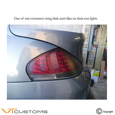 30 x 120cm Matt Black Headlight Tint Dark Smoke Film Fog Tail Lights Tinting Car