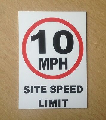 10 MPH Site speed limit sign.  Safety Sign for site and factory (PL-75)