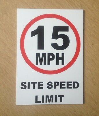 15 MPH Site speed limit sign.  Safety Sign for site and factory (PL-76)
