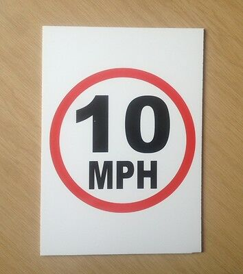 10 MPH speed limit sign.  Safety Sign for schools etc.  (PL-78)