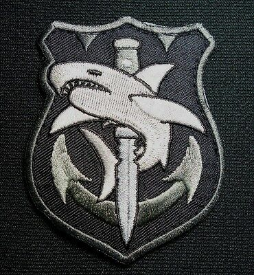 Tactical Shark Swat Usa Military Navy Nsw Combat Morale Milspec Hook Patch