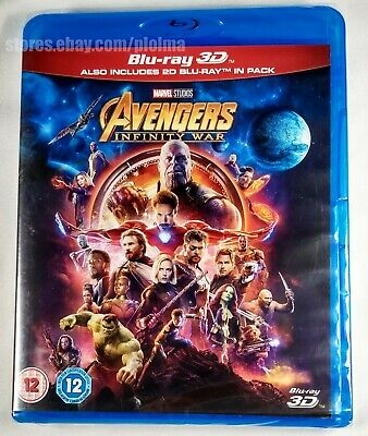 AVENGERS: INFINITY WAR Brand New 3D + 2D BLU-RAY 2-Disc Set MCU Marvel SHIPS NOW