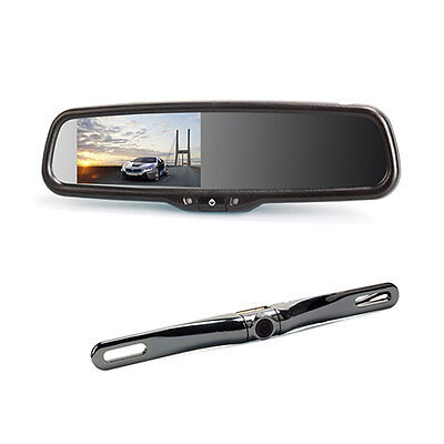 "New 4.3"" LCD Car Rearview DVD Mirror Monitor+170°Reverse Reversing Backup Camera"