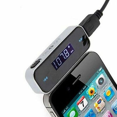 MP3 FM Radio Transmitter Hands Free For Mobile,iPhone5,iPod,Samsung UK FAST POST