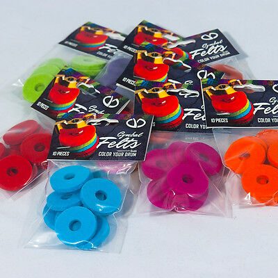 Colored Cymbal Felts by CYD - 10 pcs Pack