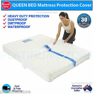 96 x Queen Size Bed Mattress Protector Plastic Storage Bag Dust Mould Bulk Buy